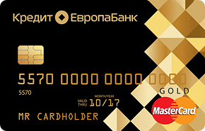 Дебетовая карта «Cash Card Mastercard Gold» от Кредит Европа Банка